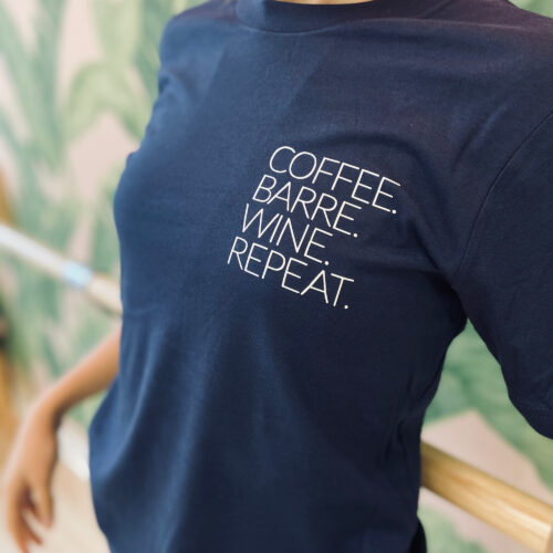 blue-tee-shirt-coffee-barre-wine-repeat-bx-studio-online-boutique-barre-boxe-montreal